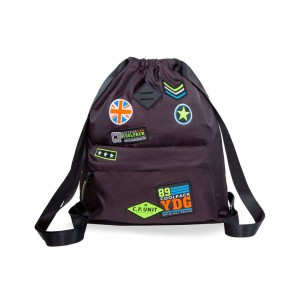 Plecak worek Coolpack URBAN BADGES BLACK B73055