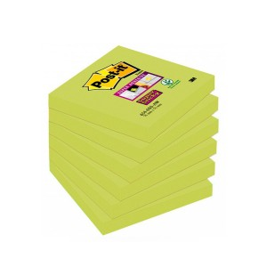 Notes samoprzylepny 76x76 654 zielony SUPER STICKY
